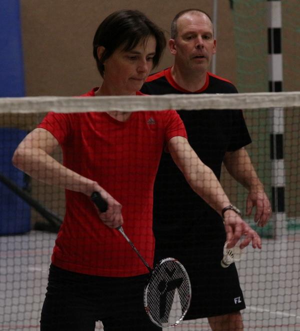 Badminton Stadtliga 2018 02 26 Kerstin Braun und Torsten Gebert Motor 2