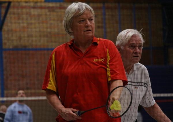 Badminton Stadtliga 2018 02 26 Marion Greuel und Alwin Jess Motor 2