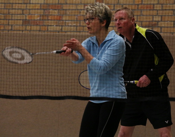 Badminton Stadtliga 2018 02 26 Simone Rutte und Bernd Windschügl Motor 1