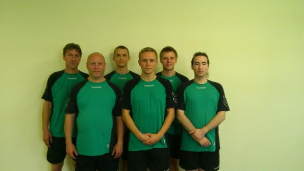 von hinten links: Marco Knopp, Theo Lorenz, Nico Witter - von vorne links : Frank Korte, Andreas Franzke, Andy Zimmermann