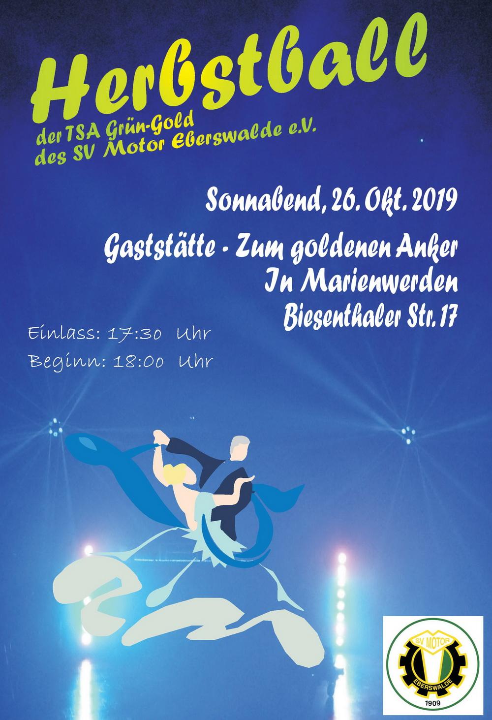2019 10 26 Flyer Herbstball Abt. Tanzsport