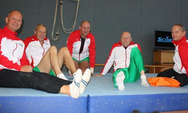 3 Entspannt nach dem Wettkampf Bronzeteam ü45