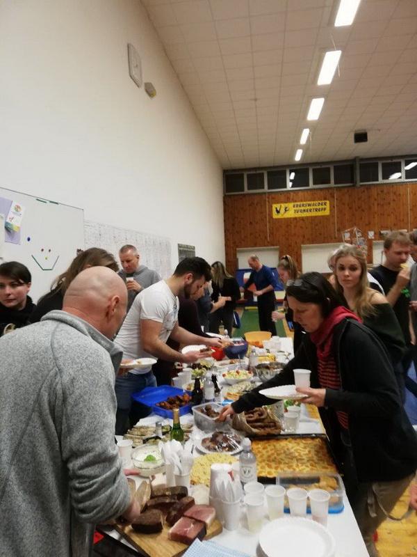 3 Tini Trautmann Eröffnung des Buffets zum 5. Neujahrsempfang