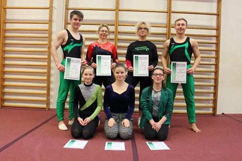 Das Eberswalder Turnteam nach dem Wettkampf