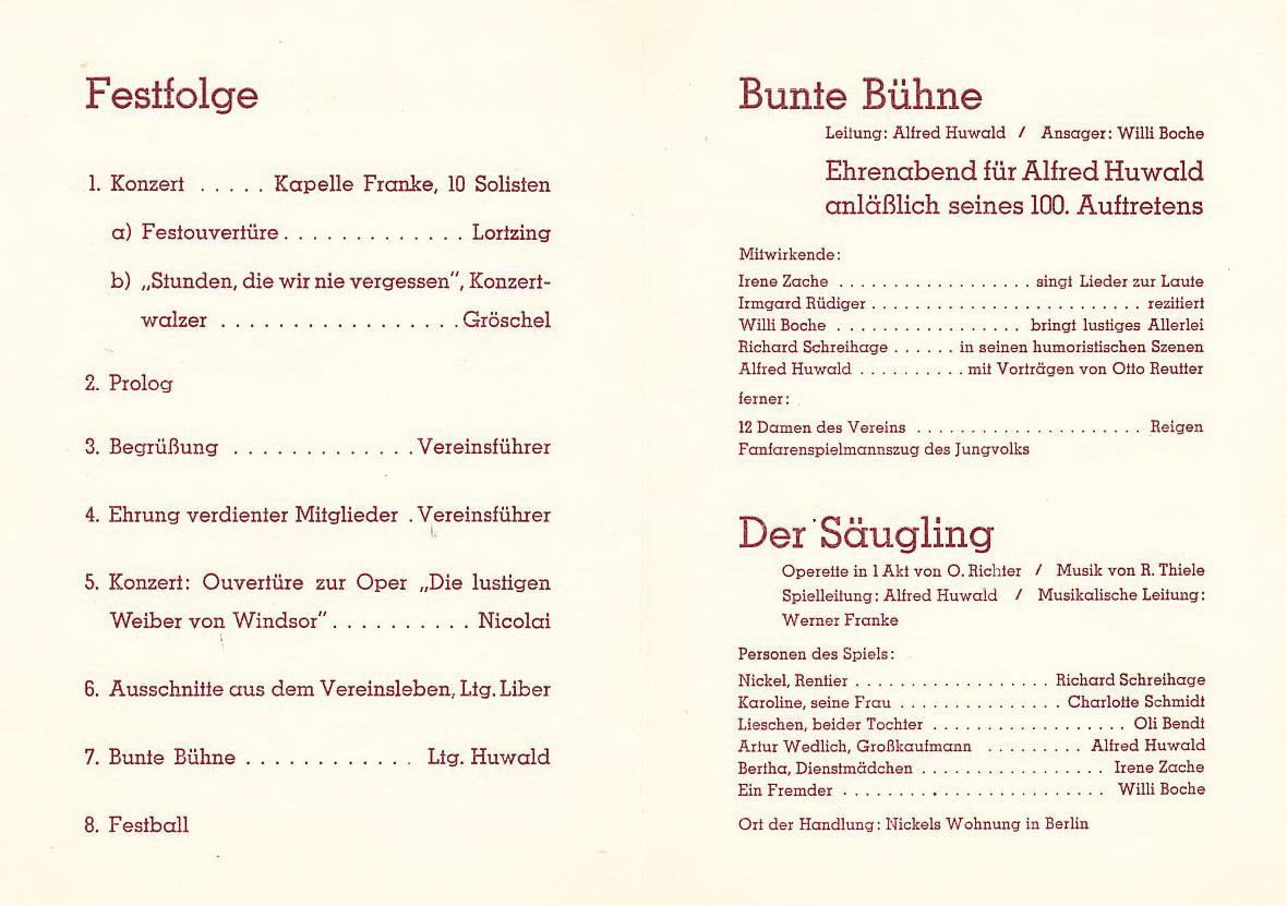 Einladungskarte 1934 Seite 2